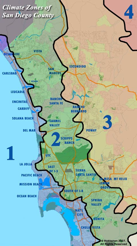 San diego county climate zones maps pinterest san diego and california usa san diego county climate zones sciox Gallery
