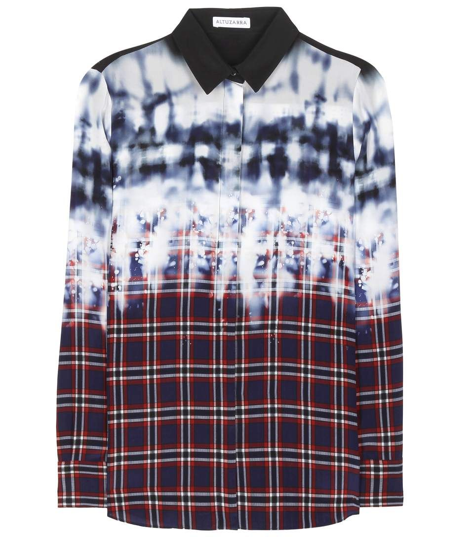 ALTUZARRA Chika Printed Silk Shirt. #altuzarra #cloth #tops
