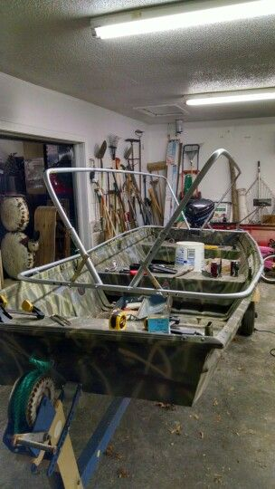 Scissor blind build. Conduit frame. | duck boat | Pinterest ...