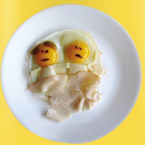 engraçados ideias alimentos ovos