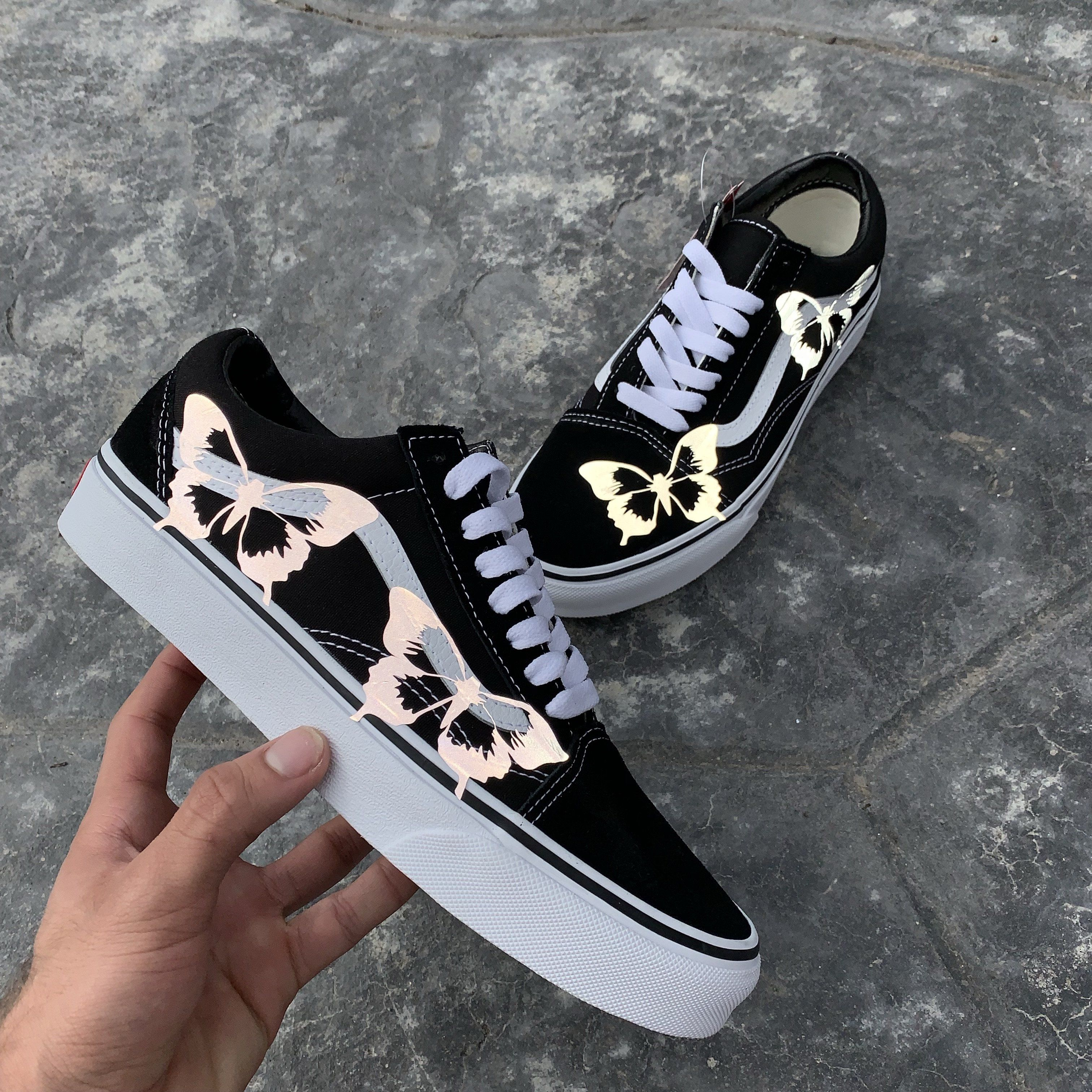 3m Reflective Butterfly Old Skool Vans Nuwavezz With Images