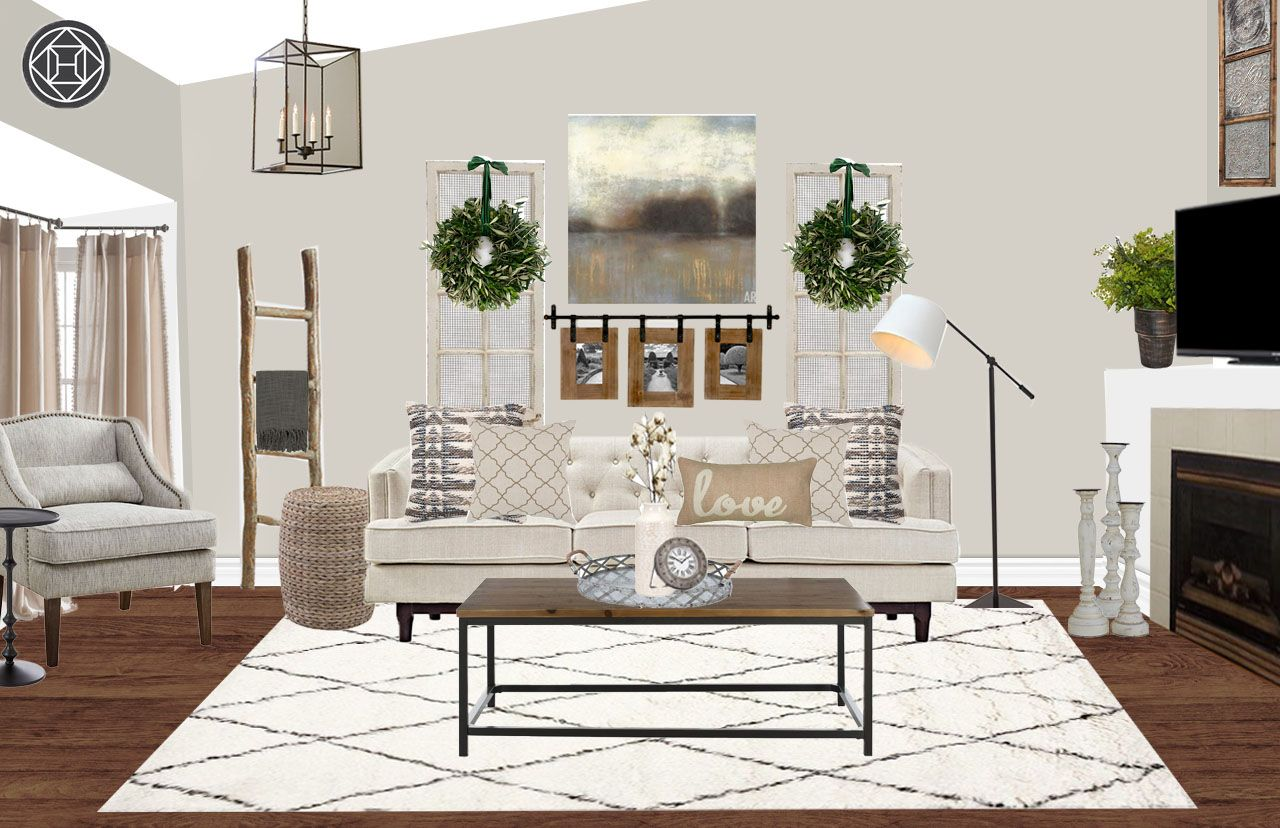 Farmhouse, Rustic Living Room by Havenly Rustic living