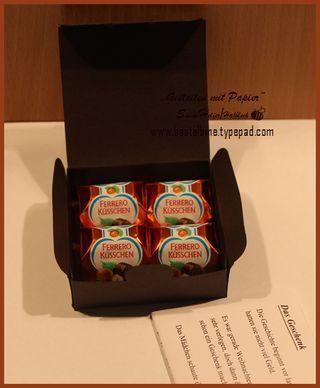 box für vier Küsschen template  Chocolate box template