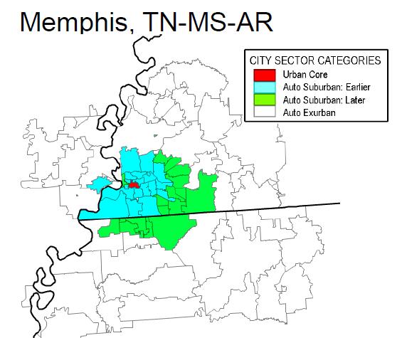 Demographia City Sector Model Metropolitan Area Maps Functional
