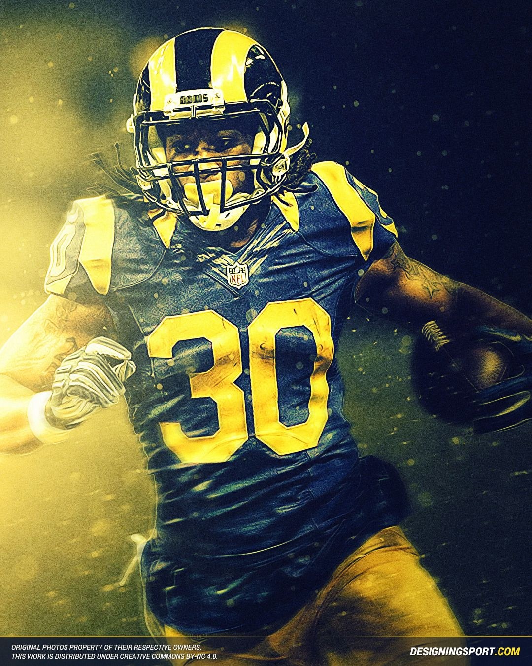 Designing Sport Todd Gurley Los Angeles Rams Todd Gurley Los Angeles Rams La Rams Football