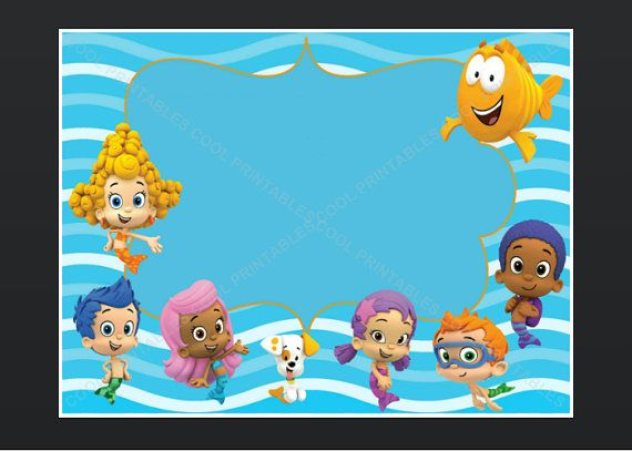 bubble-guppies-invitation-template-With-an-elegant-design-of-simple ...