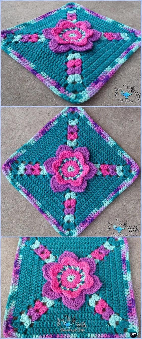 Crochet Tip Toe Through the Tulips Granny Square Free Pattern ...