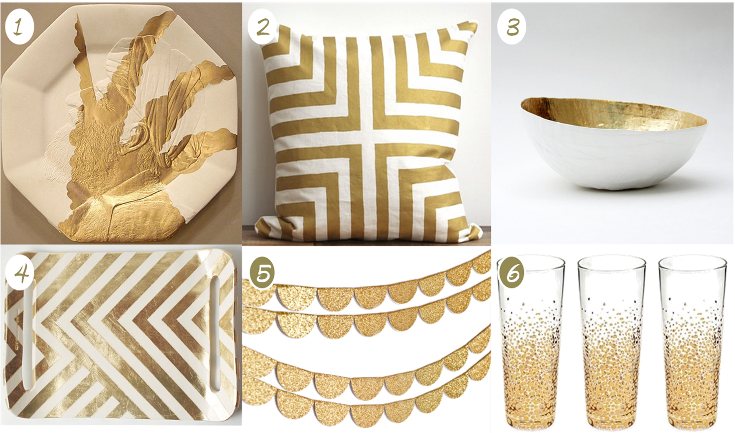 Home Decor White And Gold