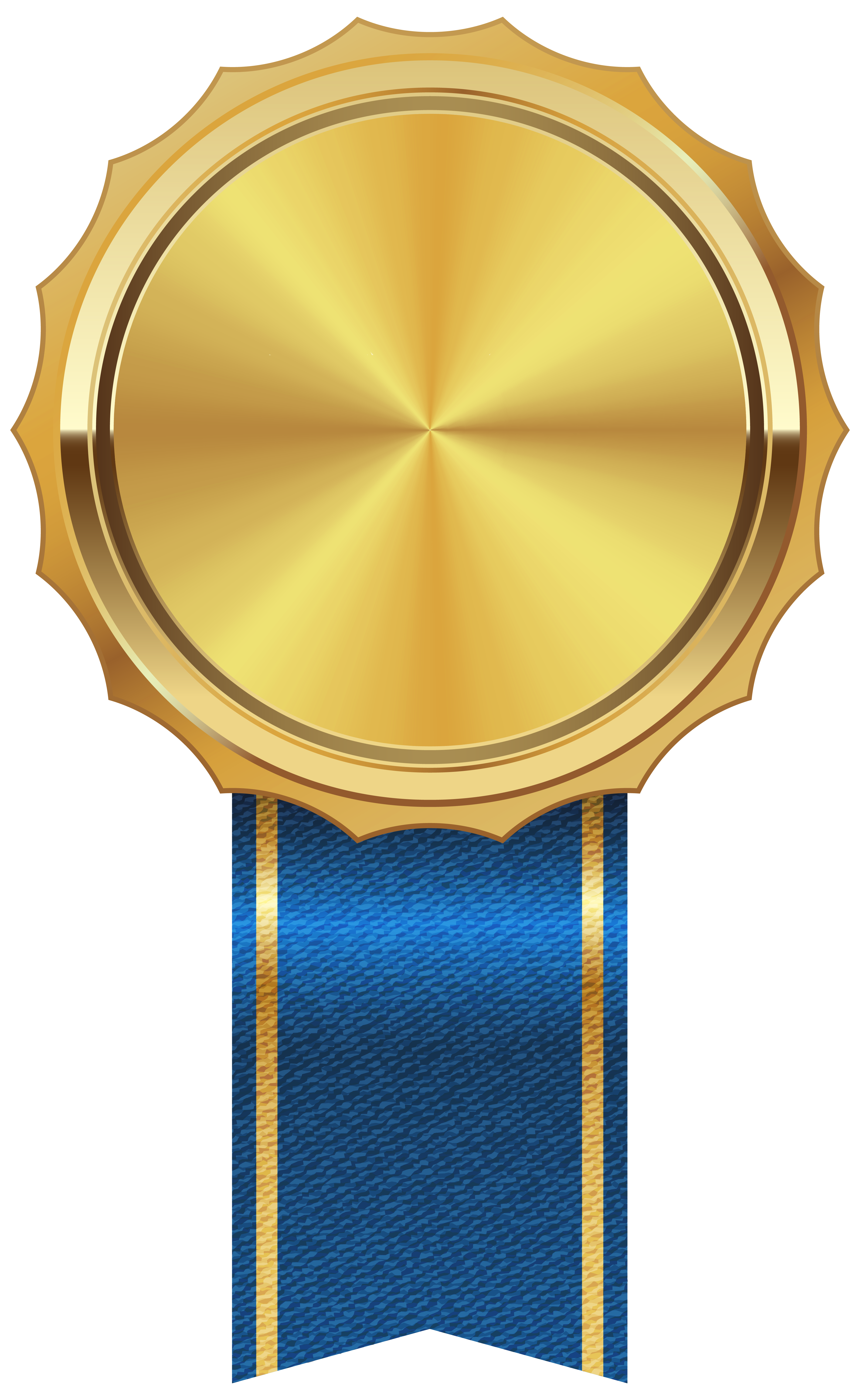 Gold Medal with Blue Ribbon PNG Clipart Image | Gallery ...