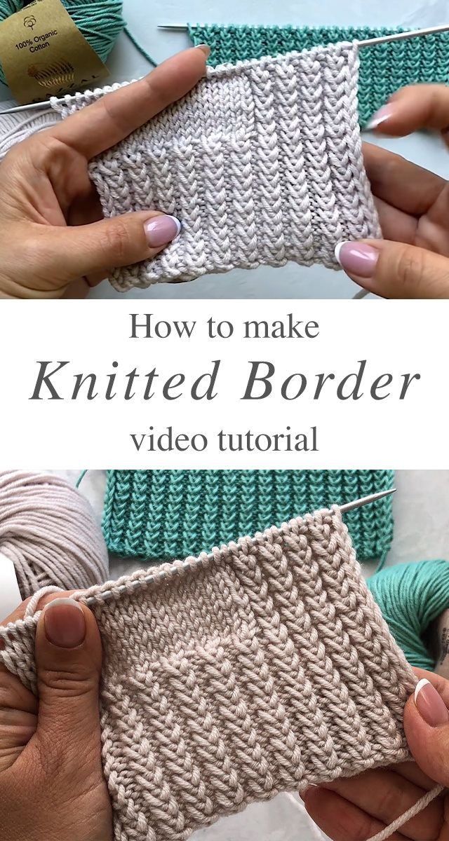 Knitted Border For Dresses Of Any Kind