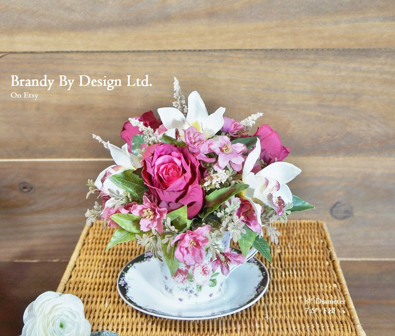 Spring arrangement floral arrangement teacup arrangement small