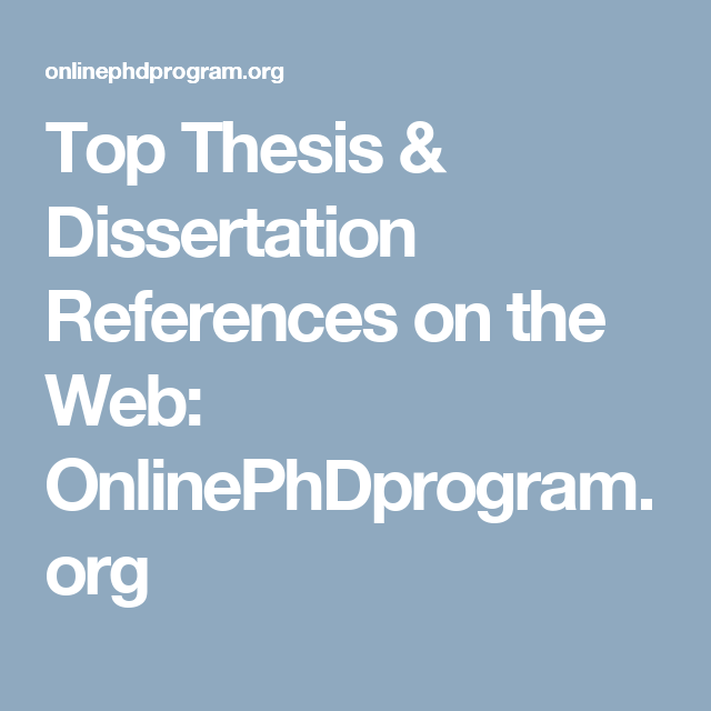 Top Thesi Dissertation Reference On The Web Onlinephdprogram Org Science Writing Study Techniques All But Statistics