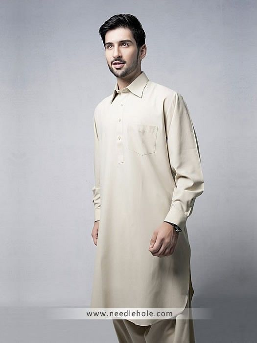 85de090191 One pocket shalwar kameez suit for men in beige color in 2019 ...