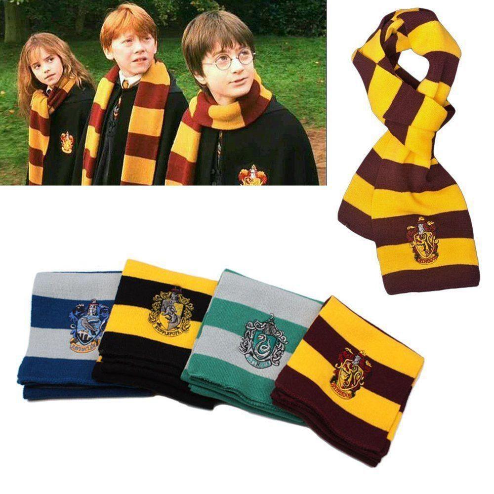 Harry Potter Gryffindor Hufflepuff Slytherin Schal stricken Schal Cosplay Kinder