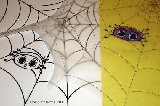 Eine Bastelidee für freundliche Spinnen. Nette Deko nicht nur zu Halloween. Und schon für die Kleinsten!