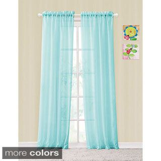 shop for vcny colette rod pocket sheer curtain panel pair free