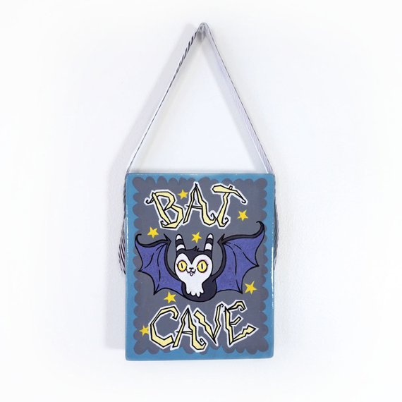Original Painting Bat Cave Hanging