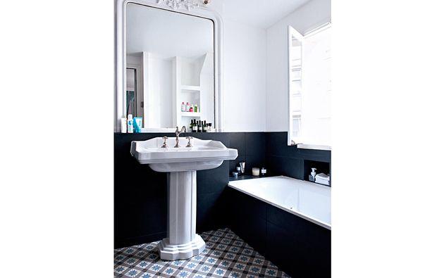 Vasca Da Bagno In Francese : Bagno vintage bianco e nero mobili e idee darredamento bagno