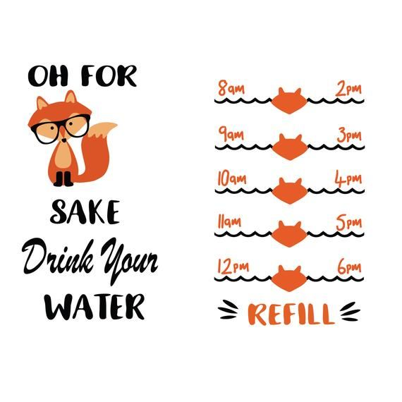 a99095008c Water tracker svg - water tracker dxf - oh for fox sake drink your water svg