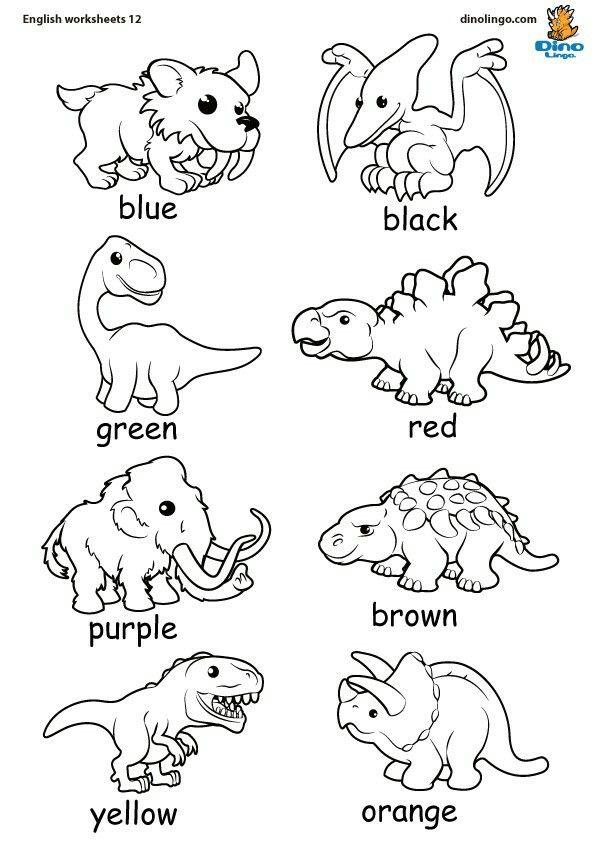 Pin By Illene Jones On Worksheets Worksheets For Kids Color Activities Kindergarten Worksheets Sight Words Dinosaur worksheets kindergarten