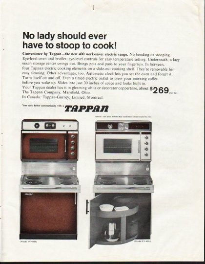 1964 Tappan Vintage Ad No Lady Vintage Ads Hotpoint Summer Dinner