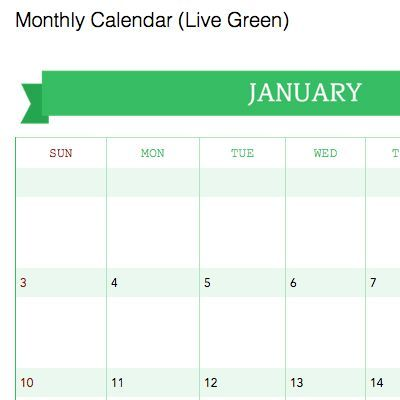 Download Templates For Calendars And Planners For Evernote