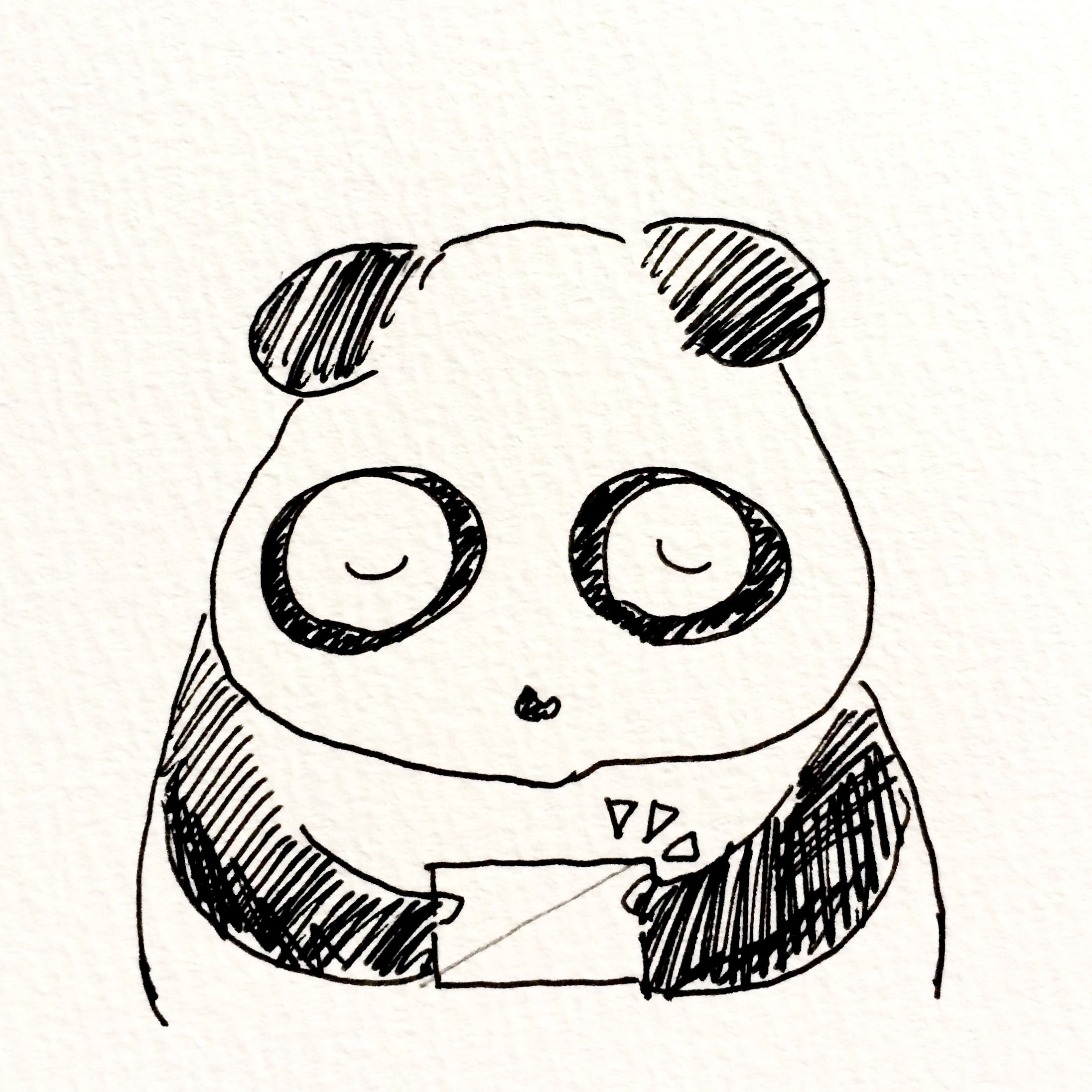 【一日一大熊猫】2017.5.4 メイ(may=5月)とシ(4日)の語呂合わせで名刺の日。 今年に入ってから会う人に名刺を渡す事がない。 何となく会話が出来るとその場で携帯電話をリンクさせたり SNSで繋がったりする。 長期間のSNSの投稿みたら大体わかるから会わないまま発注受ける事も。 名刺は不要とは思わないけど、大体長く付き合える人は名刺から入っていない気がする。 #パンダ #名刺