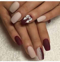Adoro O Efeito Mate Nails Pinterest Matte Nails Red Nail