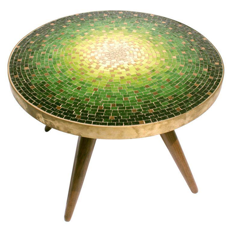 Venetian Mosaic Top Table By Vladamir Kagan For Dreyfuss