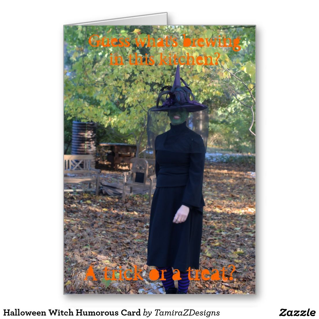 Halloween Witch Humorous Greeting Cards With Funny Message Inside Of