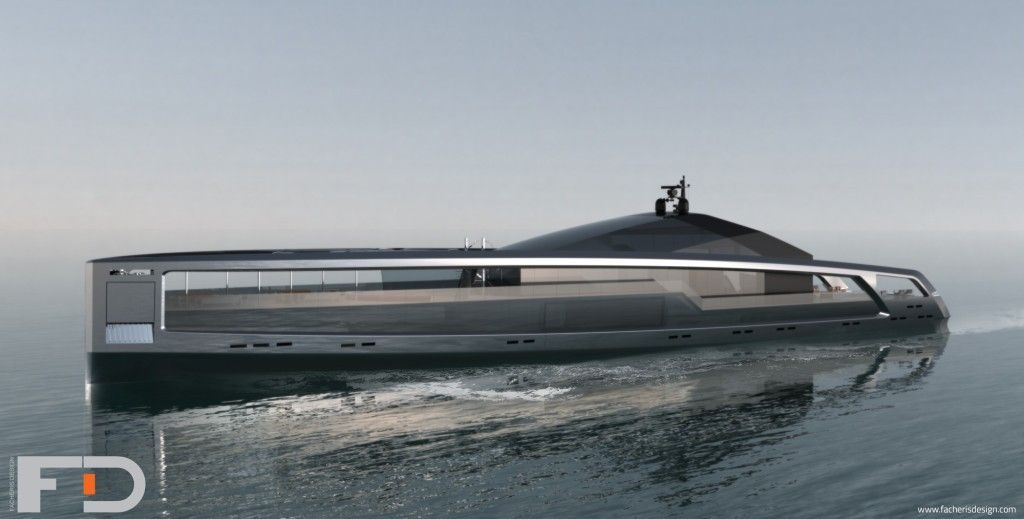 Maximus Yacht Is A Foot Concept That Looks Like Nautilus - Giga yacht takes luxury oil tanker sized extreme