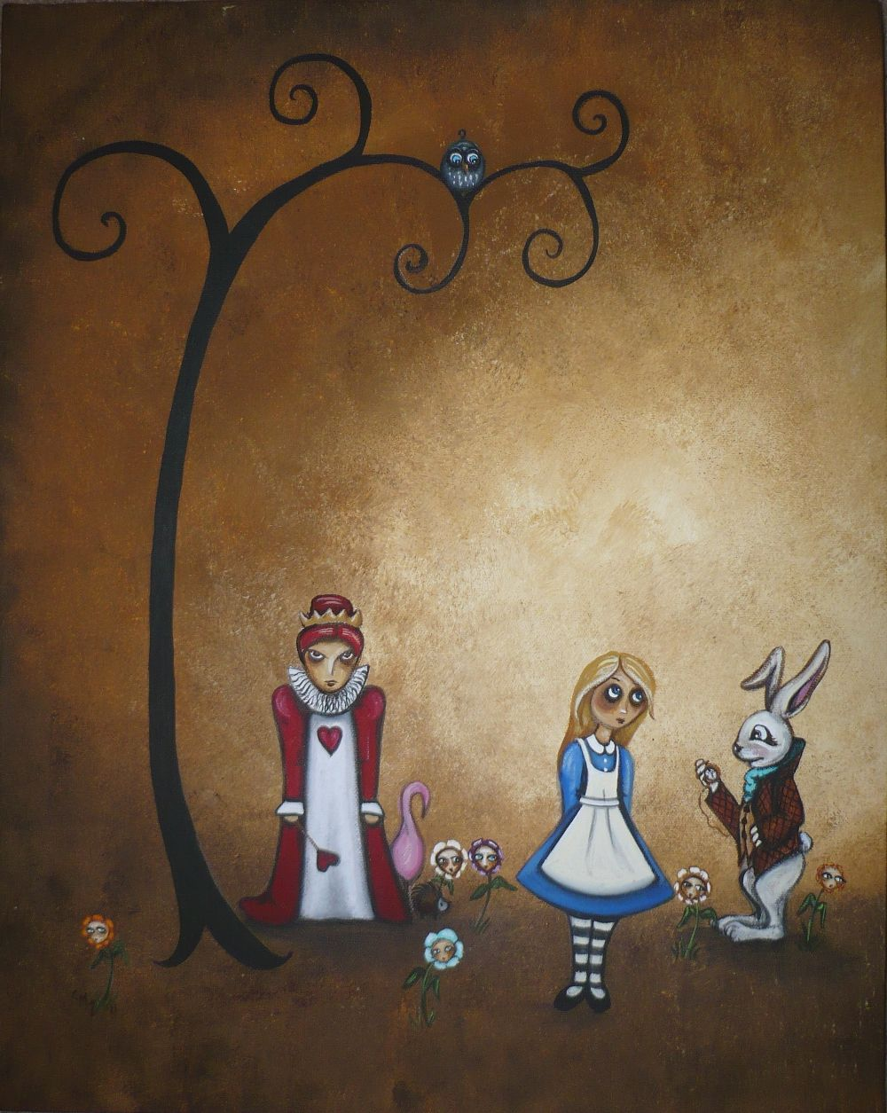 Another Painting Blog: Alice in Wonderland - Encore