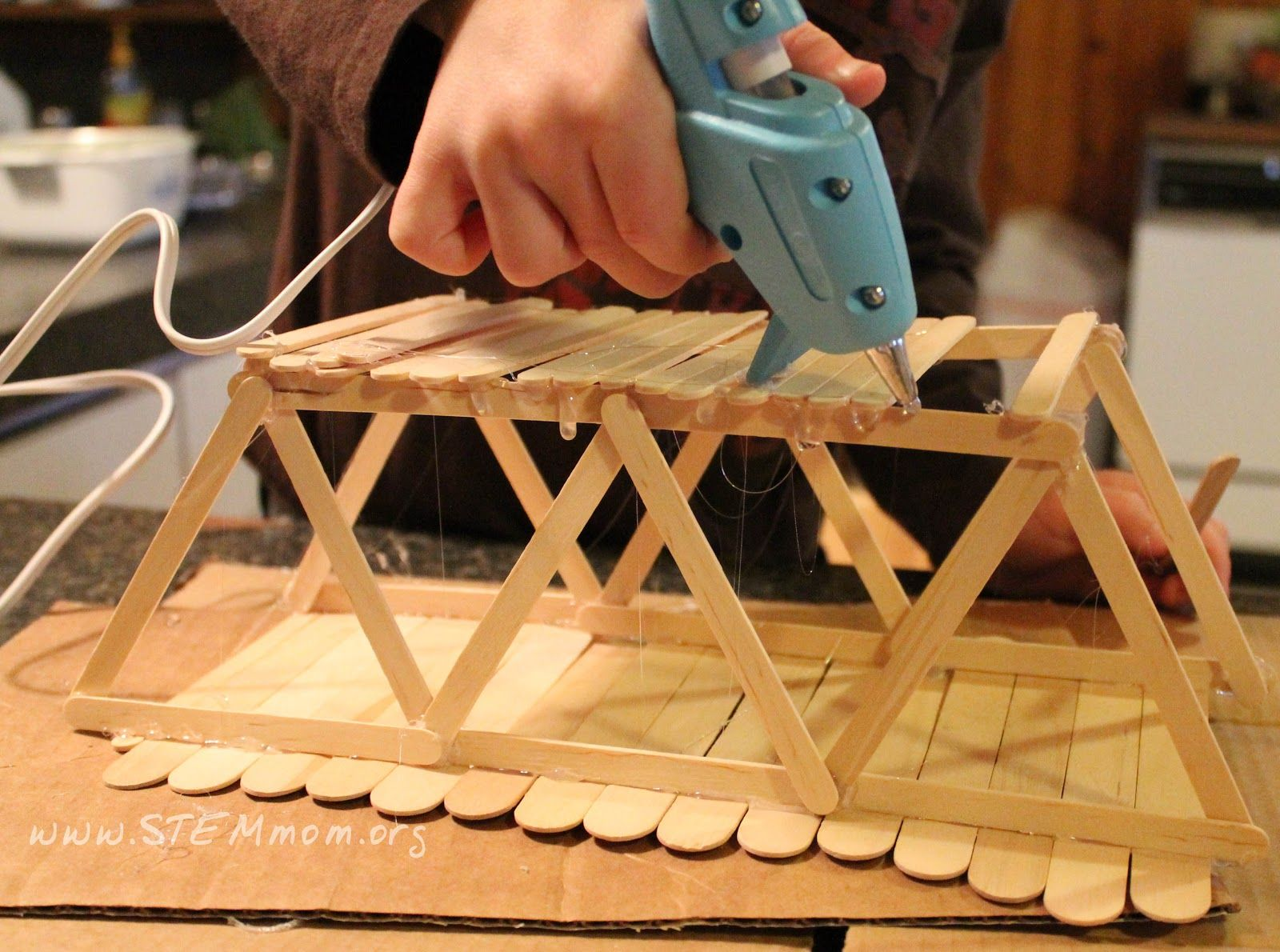 bridge | Kids | Popsicle Stick Crafts, Glue Gun, Craft ...