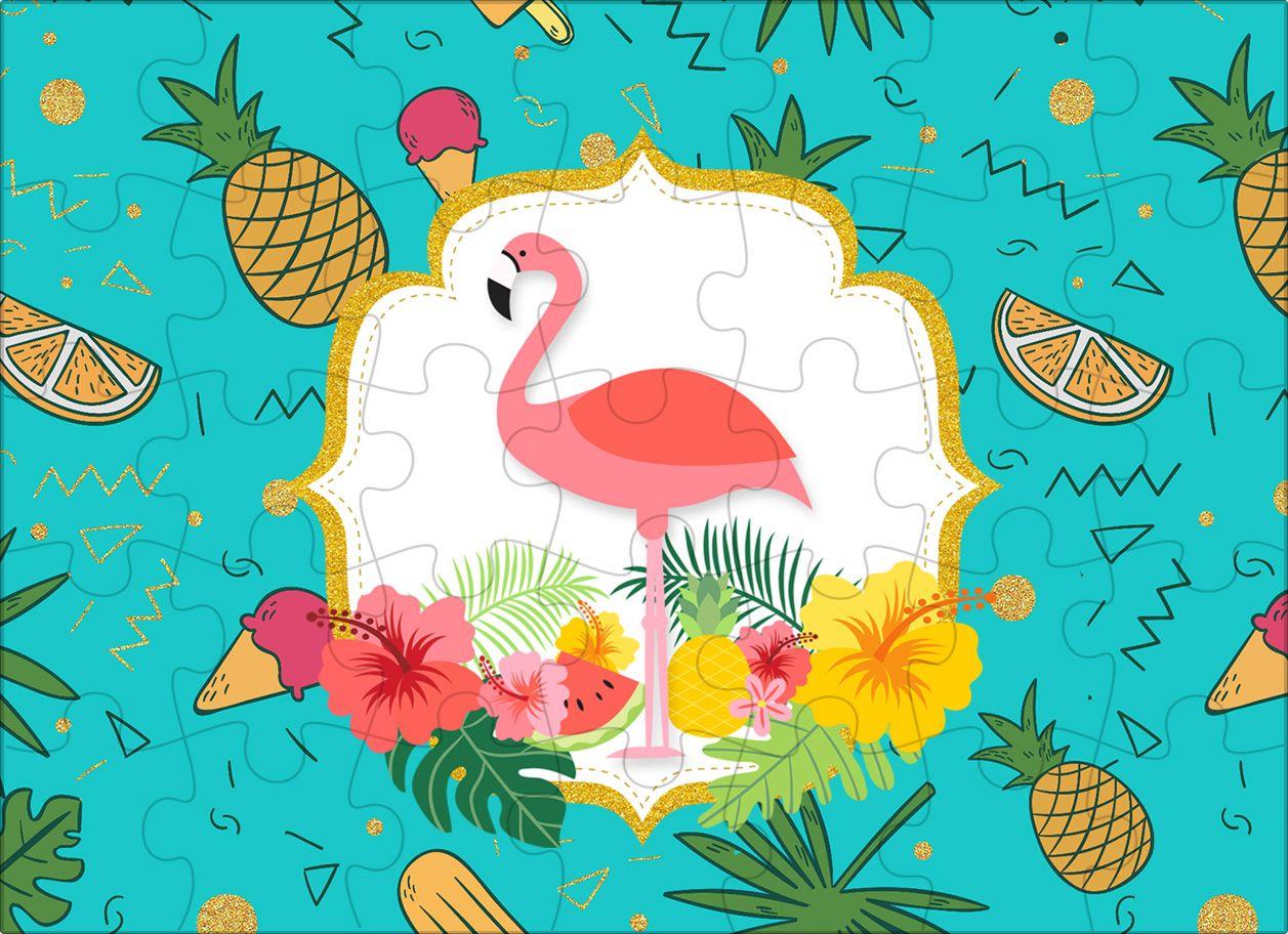 Quebra Cabeca Flamingo Tropical Festa Festa Tropical