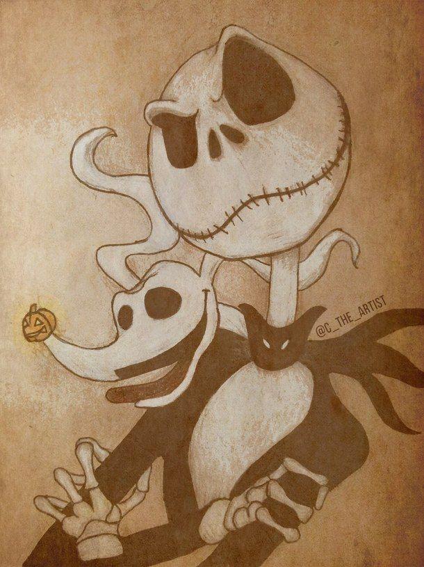 Halloween Jack Skellington Scary.Art Christmas Dog Drawing Halloween Jack Skellington Nightmare