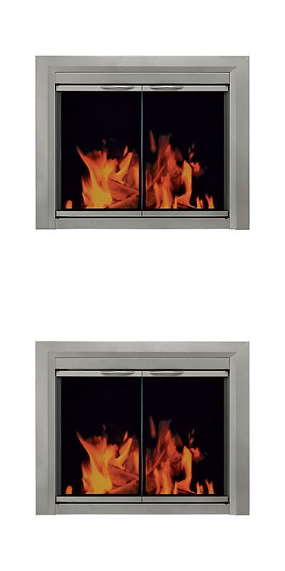Fireplace Screens And Doors 38221 Pleasant Hearth Colby Masonry Gl Door Large Satin Nickel