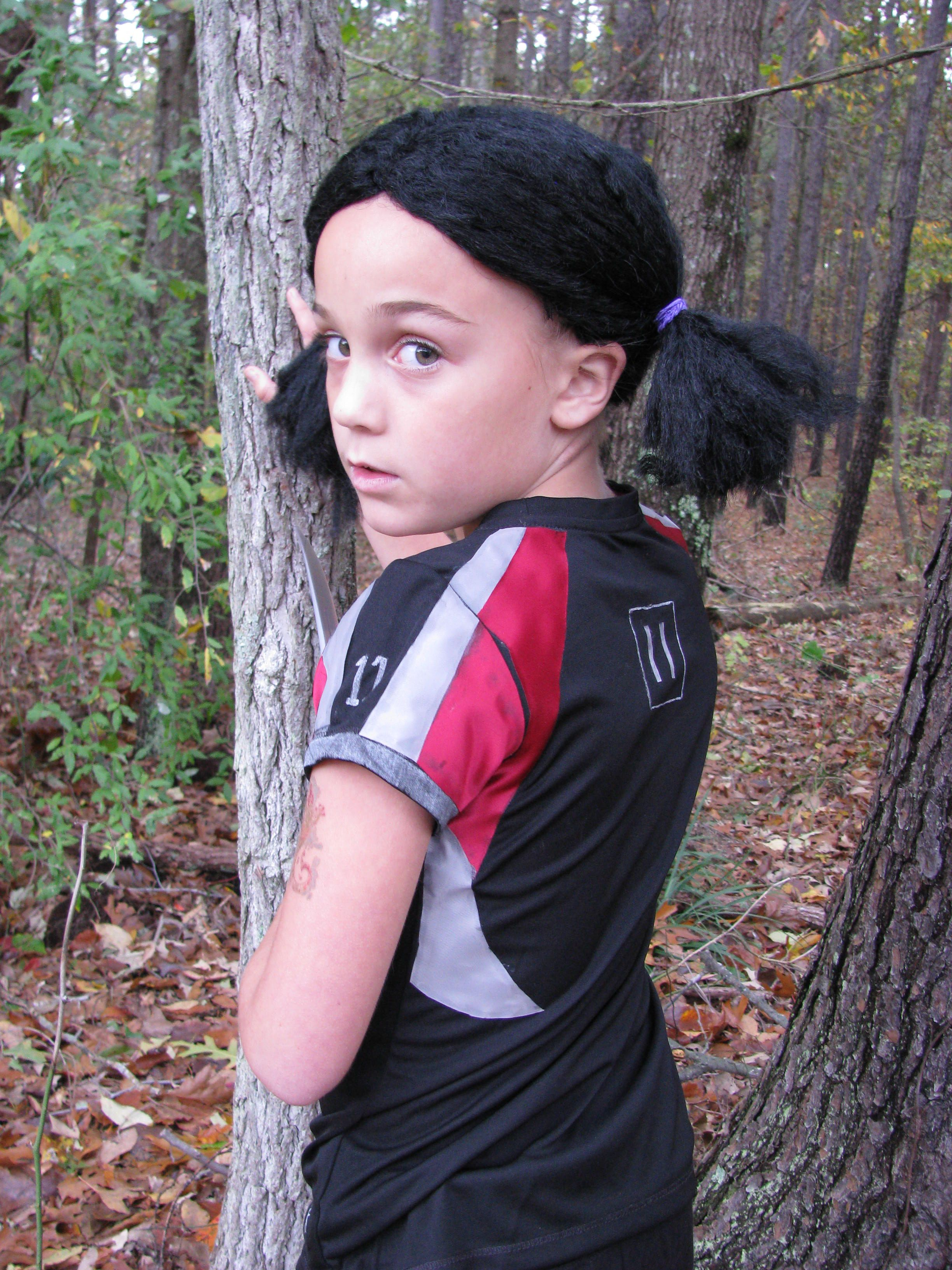 homemade rue costume from hunger games homemade. Black Bedroom Furniture Sets. Home Design Ideas