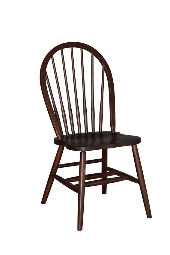 amish 7-spindle bow back dining room chair   dining chairs