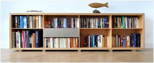 Contemporary Wooden Bookcase Long Amp Low Archiexpo Low
