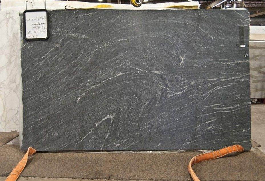 Honed Black Granite With White Veins Looks Like Soapstone