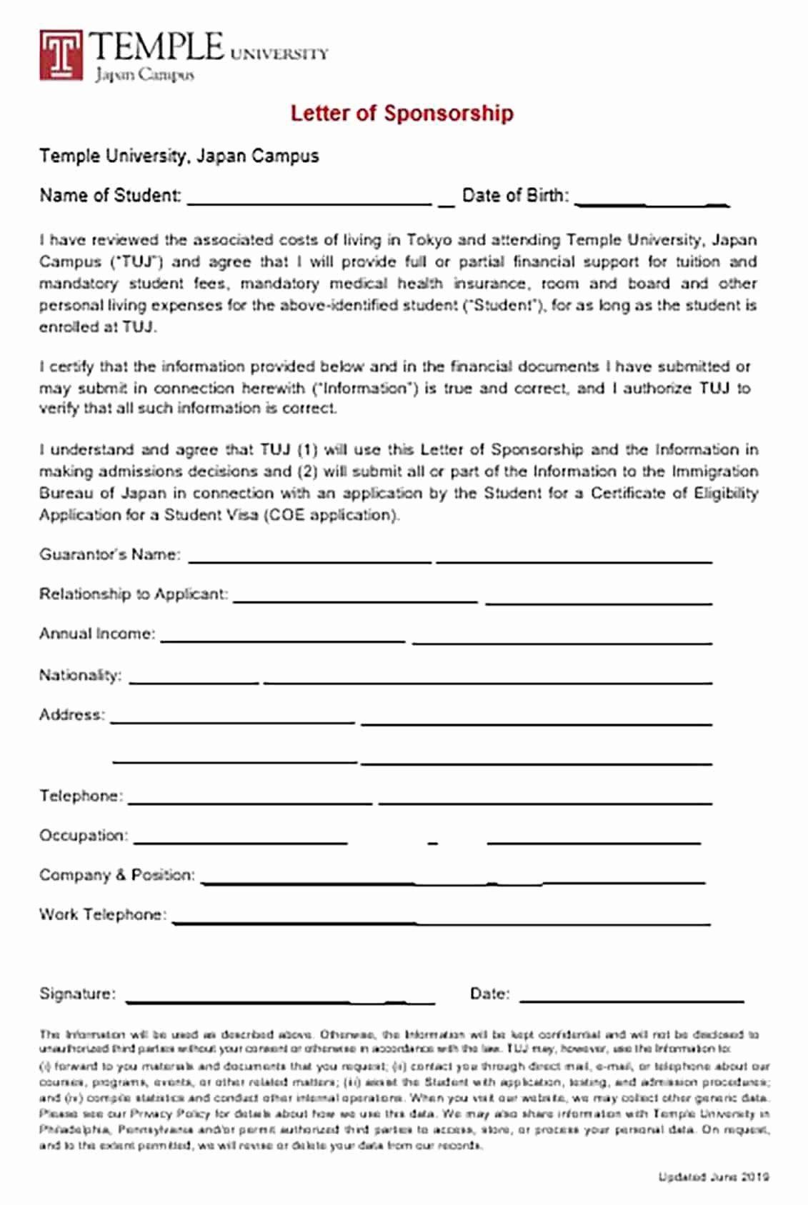 Sponsor Letter For Student New Visa Sponsorship Letter And Tips To Make The Reader Interested In In 2020 Lettering Sponsorship Letter Printable Letter Templates