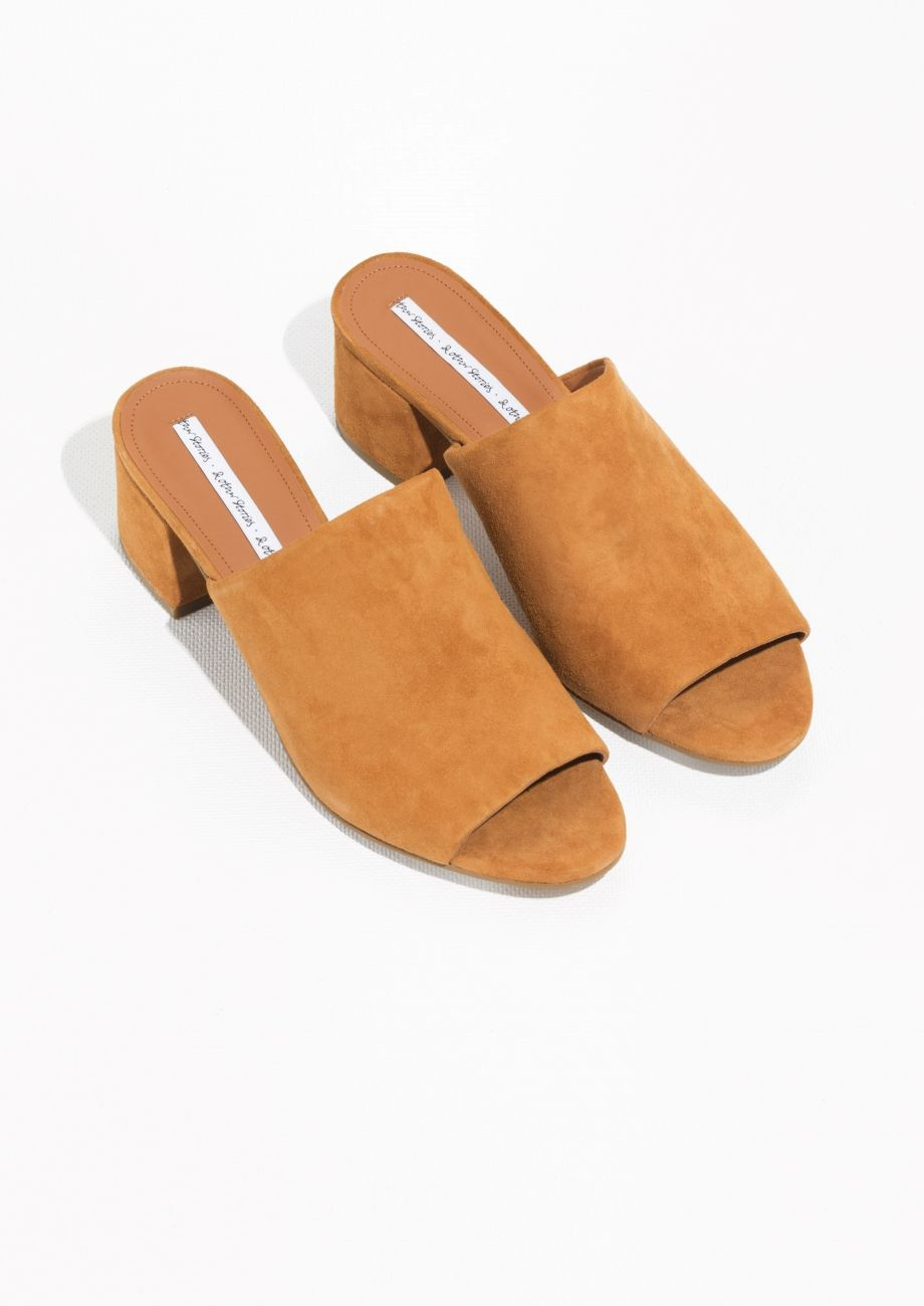 & OTHER STORIES Suede Mules tmesT