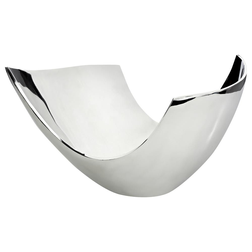 decorative decor awesome boat metal silver shaped fruit bowls bowl