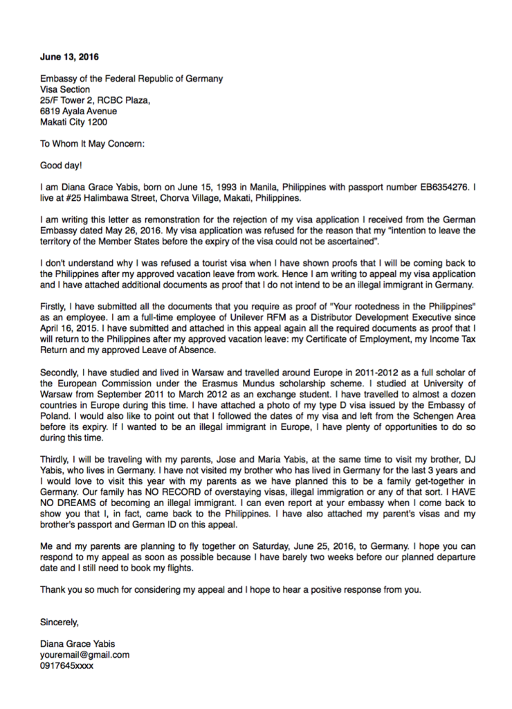 Sample Appeal Letter For Schengen Visa Refusal Business Letter Format Introduction Letter Letter Sample