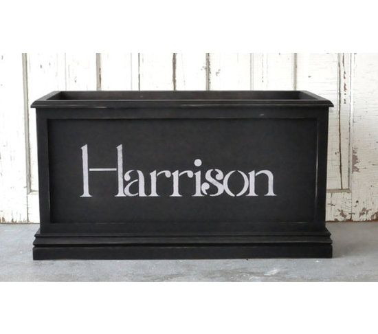 Personalized Toy Chest Distressed In Black Toy Chest Music