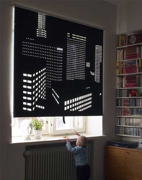 Better View Is Is A Series Of Perforated Black Out Roller Blinds