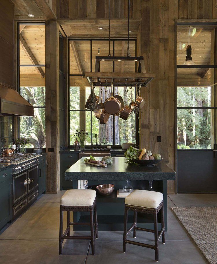 Farmhouse Style Cabin In Napa Valley Kitchens, Cabin and Barn