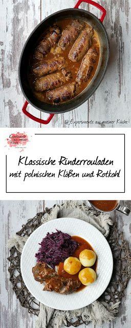 Klassische küche rezepte  Klassische Rouladen mit Rotkohl und polnischen Klößen   Blogger ...