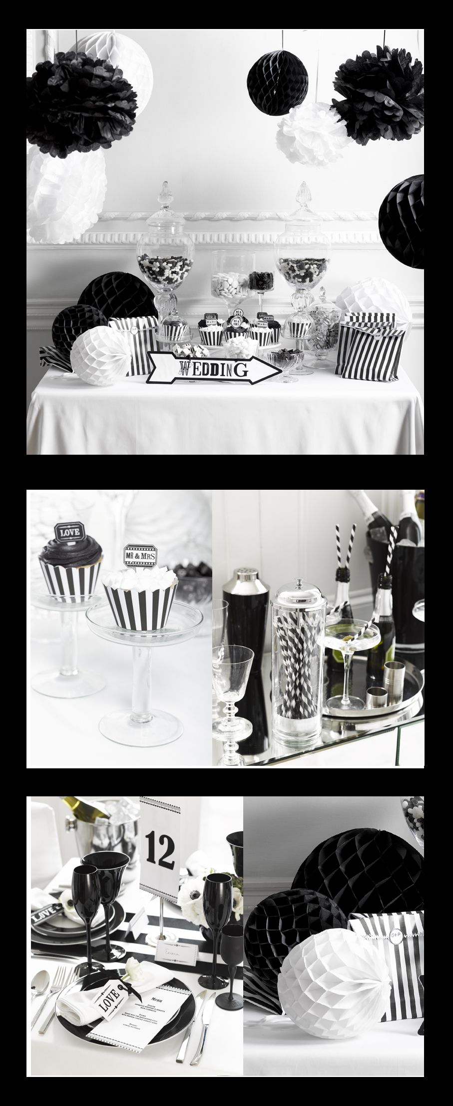 A black and white wedding is so elegent and classic...keep to a ...