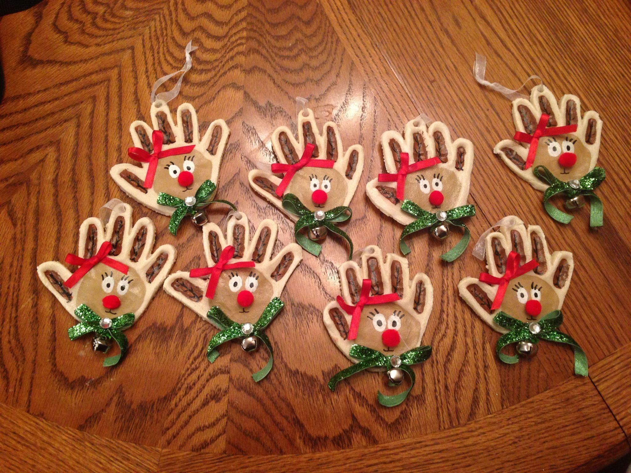 Reindeer salt dough ornaments sydnee 39 s crafts for Christmas tree ornament craft ideas